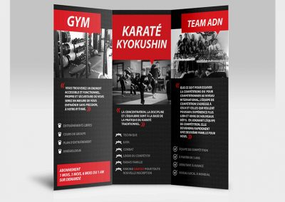 ADN GYM et arts martiaux- in-dépliant promotionnel