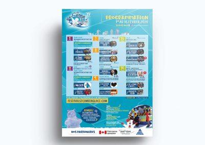Affiche événementiel - Festival St-Côme en glace 2020