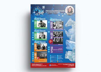 Affiche événementielle - Festival St-Côme en glace 2020