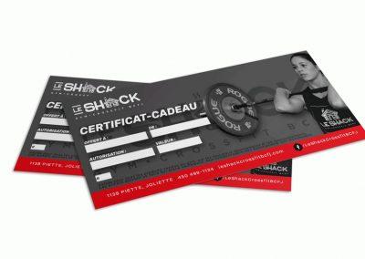 Certificat-cadeau - Le Shack Crossfit